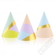 Papírové party kloboučky Pastel
