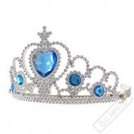 Korunka pro princeznu Frozen s modrými kamínky