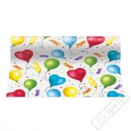 Středový pás na stůl z papíru Balónky