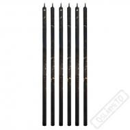 Dortové svíčky Millenium dlouhé černé