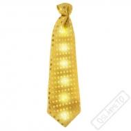 Party kravata svítící zlatá