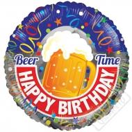 Narozeninový balónek fóliový Beer Time 45cm