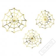 Dekorační zlaté pavučinky