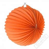 Papírový lampion kulatý oranžový