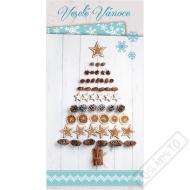 Vánoční blahopřání Stromeček Nature