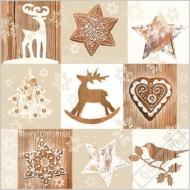Vánoční papírové ubrousky Woody