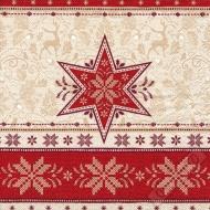 Vánoční papírové ubrousky Pletená hvězda
