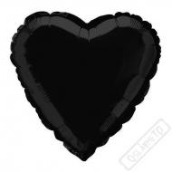 Nafukovací balónek fóliový Srdce černé 45cm