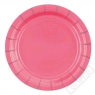 Papírové barevné talířky fuchsiové