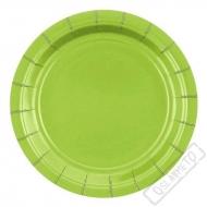 Papírové barevné talířky zelené