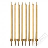 Dortové svíčky se stojánky zlaté