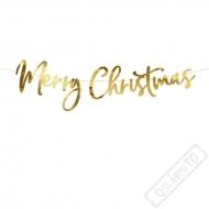 Fóliový nápis Merry Christmas zlatý