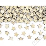 Dekorační dřevěné konfety na stůl Hvězdy