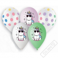Latexové balónky s potiskem Happy Unicorn