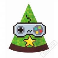 Papírové party kloboučky Minecraft