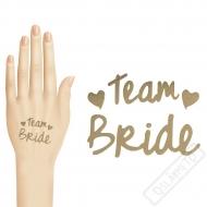 Tetování na rozlučku se svobodou Team Bride