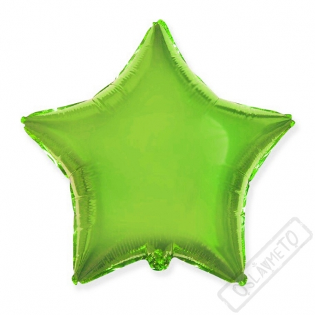 Nafukovací balónek fóliový Hvězda zelená 45cm
