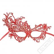 Škraboška krajková Masquerade červená