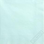 Jednobarevné papírové ubrousky blankytně modré