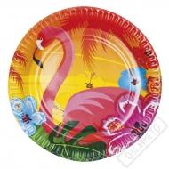 Papírové party talířky Flamingo