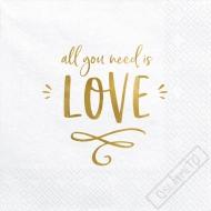 Papírové svatební ubrousky All You Need is Love