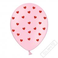 Latexový balónek se srdíčky Valentine
