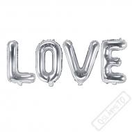 Nafukovací balónky písmena LOVE stříbrná