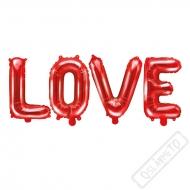 Nafukovací balónky písmena LOVE červená