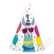 Papírové party kloboučky Lama
