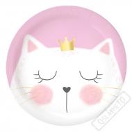 Papírové party talířky Kočka