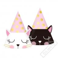 Papírové party kloboučky Kočka