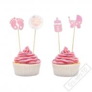 Zapichovátka do muffinů Baby růžové