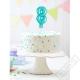 Nafukovací balónek na dort číslo 7 modrý