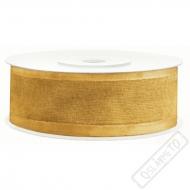 Šifonová stuha šíře 2,5cm zlatá