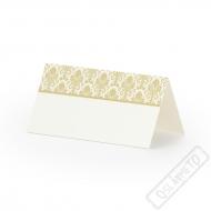 Papírové jmenovky na stůl Golden