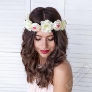 Květinový věneček na hlavu Flower Crown bílý