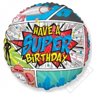 Nafukovací balónek Super Birthday 45cm