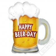 Nafukovací balón narozeninový Happy Beer-day 80cm