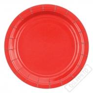 Papírové barevné talířky červené