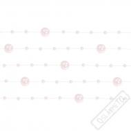 Dekorační perly na vlasci růžové