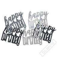 Dekorační konfety na stůl narozeninové černé