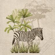 Papírové party ubrousky Wild Zebra