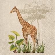 Papírové party ubrousky Wild Žirafa