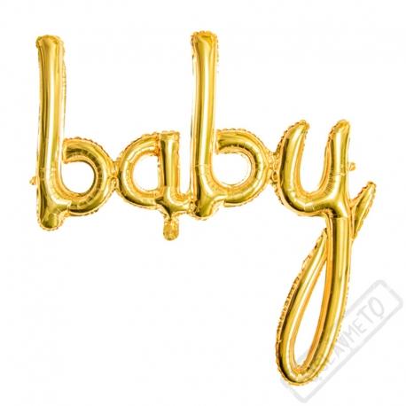 Nafukovací písmena Baby zlatá
