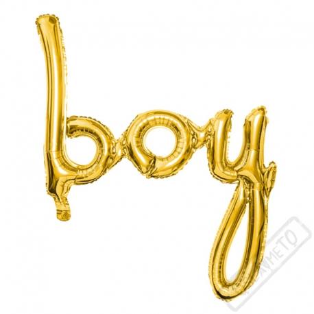 Nafukovací písmena Boy zlatá