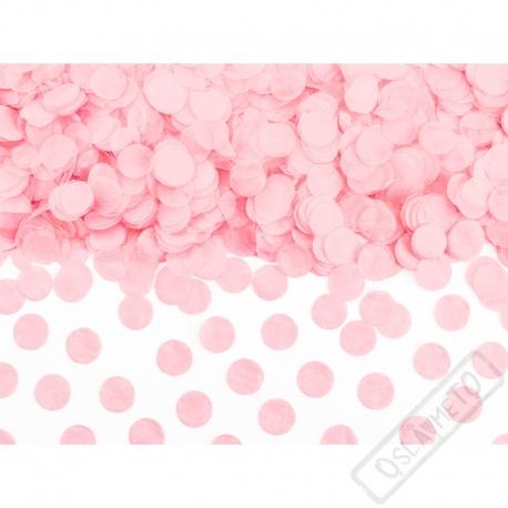 Papírové konfety na stůl růžové