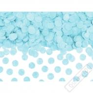 Papírové konfety na stůl azurové