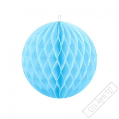 Dekorační papírová koule XS azurová