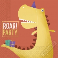 Papírové party ubrousky Dinosaurus