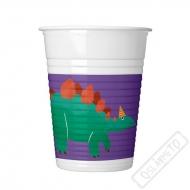 Plastové party kelímky Dinosaurus